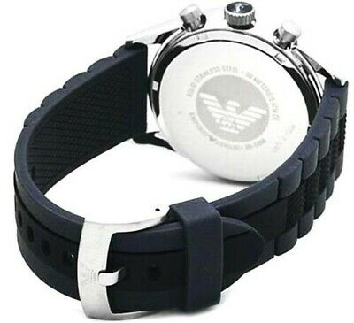 Replacement Emporio Armani Mens Rubber Strap AR5866 Complete with clasp +pins!