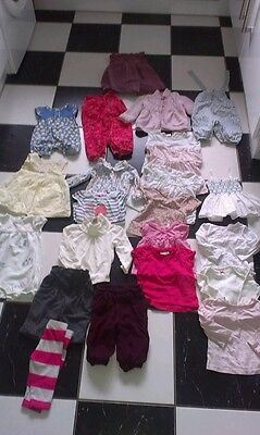 Bundle of baby girl clothes 3-6 months . Inc next, monsoon and m&s.
