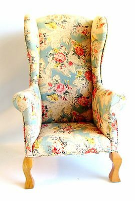 Upholstered Wing Back Chair Fits American Girl  Doll 18 Inch Dolls and Bears