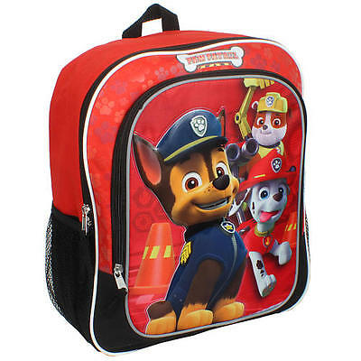 Paw Patrol 14 inch Backpack Chase Marshall Rumble NWT