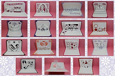 Brother ScanNCut Engagement & Wedding popup insert & blank card templates CD1076