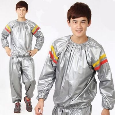 Sauna Suit Track Suit Slimming Fitness Exercise Weight Loss Training UK SELLER
