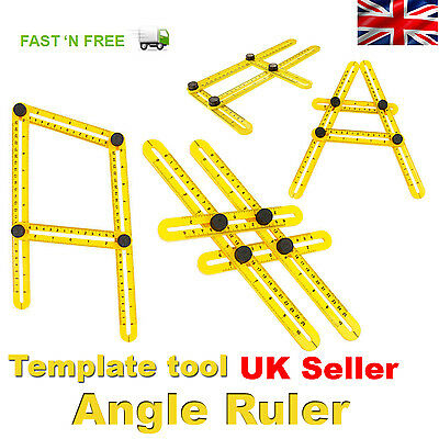 Angle Ruler Template Tool Easy Measuring Angle-izer Four sided Multifunction Ang
