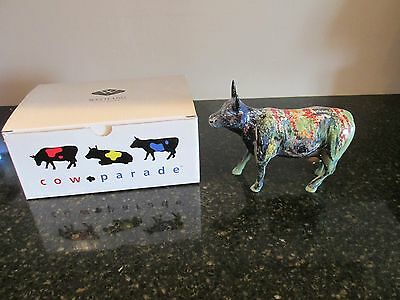 Westland Cow Parade 9168 Moonet Art Cow MIB Artist Nice