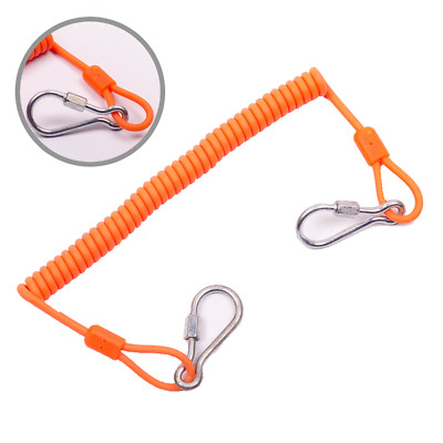 Coiled Scaffold Orange Tool Tether Lanyard working at heights (made with Kevlar)