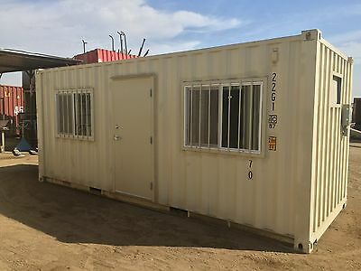 New 20Ft Office Shipping Container, Hunting Shack, Safety, Training, Break Room