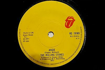 """The Rolling Stones - Angie / Silver Train  RS 19105   7"""" Vinyl Single"""