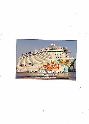 Postcard Norwegian Cruise Line  Ship  Norwegian Getaway