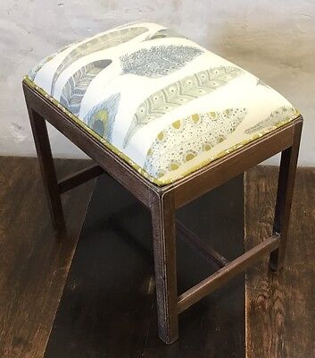 Geo III (c1780) Upcycled&Reupholstered Piano Stool/Vanity Seat/Ottoman Stool.VGC