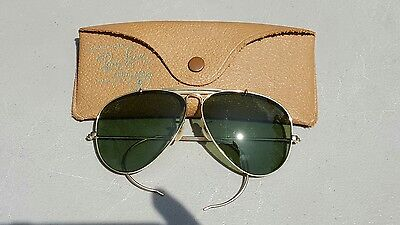 Vintage B&L Ray Ban Bausch & Lomb 1/10 12k GF Outdoorsman Rb3 Aviator 58mm