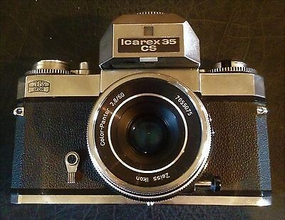 Rare Vintage Zeiss Icon Voigtlander Icarex 35 Cs Camera With Zeiss Lens & Case