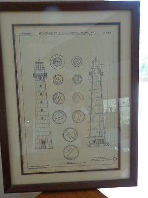 Hunting Island Lighthouse Framed Drawing