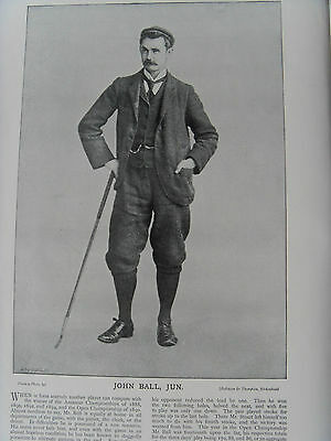 Victorian Photographic Print of JOHN BALL, JUN. GOLF OPEN CHAMPION 1890