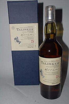 TALISKER  25 YEARS OLD DISTILLED 1984 NATURAL CASK STRENGTH  2009 WHISKY 70cl.