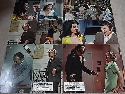 "Nine 9 X Carry On Loving Original Uk Lobby Cards 10"" X 8"" Complete Set & Extra"