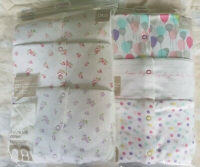 SET OF 2 Mothercare sleepsuits 12-18 months Brand New