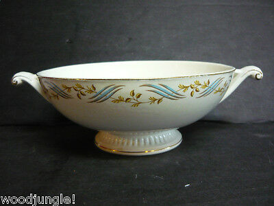 THE HALL CHINA CO.  YELLOW BLUE ART DECO BOWL Vegetable