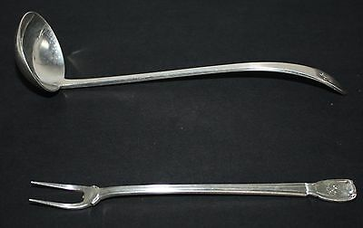 TIFFANY Sterling Silver Hallmarked Ladle Spoon and Seafood Fork 68g