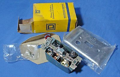 Vintage Square D 2510 Type FS-1P Manual Starter 55424 Stainless Flush Plate New