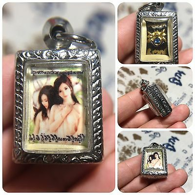 Beautiful Mini 9 Tails Fox Angel Spider Amulet Luck Love Sex Rich Charm Trade