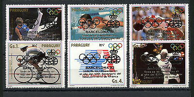 Paraguay Stamps, The Olympic - Barcelona 1992, (6), Olimpiadas
