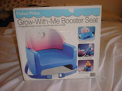 FISHER PRICE Grow With Me Blue/Red Booster Seat AO 9118 In Original Box Vintage