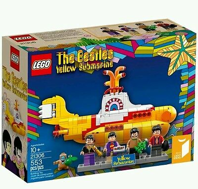 LEGO®  21306 Ideas BEATLES SOTTOMARINO GIALLO YELLOW SUBMARINE con figure. NUOVO