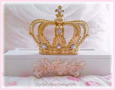 Gold & Pink Rose French Bed Crown Canopy Teester / Party Decor Color Choices
