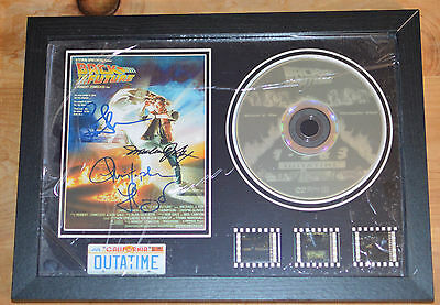 Back To The Future Framed Film Cells with Pre-Printed Signed Poster - BNIB