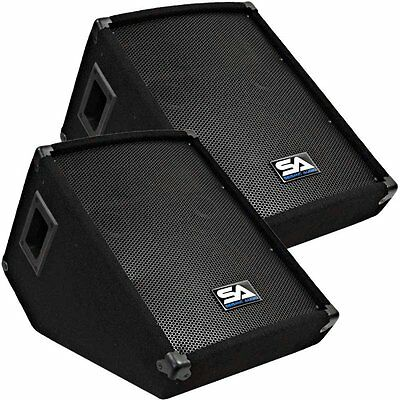 Seismic Audio - SA-10MT-Pair of 10-Inch Floor/Stage Monitors Wedge Style with