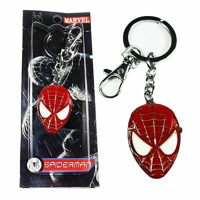 New Boys/girls Red Marvel Spiderman Keyring/keychain Pendant Pocket Fob Watch