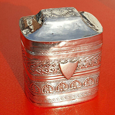 Hallmarked Dutch Silver Peppermint Box with Decorated Panels