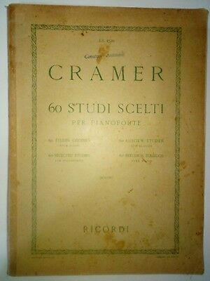 Cramer 60 Studi Scelti Per Pianoforte (Album Spartiti - Sheet)