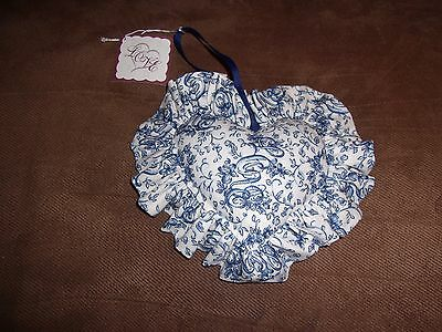 Longaberger Sweetheart Love Letters Heart Shaped Pillow Liner - Blue