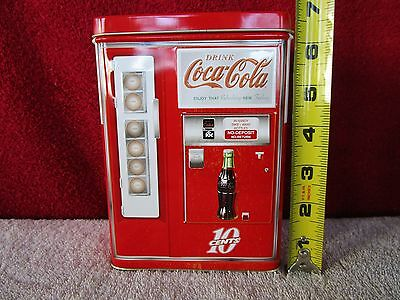 Coca-Cola Vending Machine Tin Bank w/Free Shipping