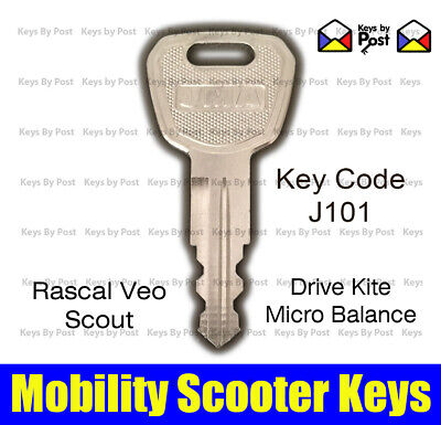 J101 Key Micro Balance Rascal Veo, Drive Kite Scout, Betterlife Mobility Scooter