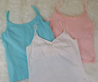 FRENCH DRESSING Women's (Lot of 3) Cami Tank Tops Built in Bra Adjustable Sz M/M