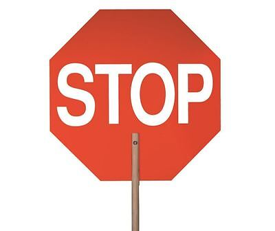 Handheld 2 Sided 18 in. Stop Paddle Crossing Guard Flagger Traffic Safety Sign