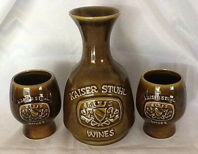 Kaiser Stuhl Wines Collectors Elischer Australia Pottery Decanter and Goblets