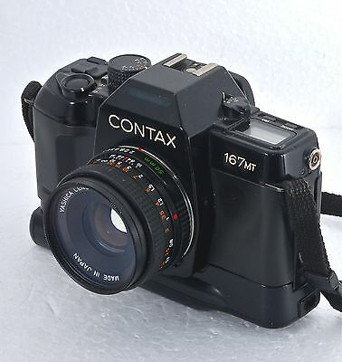 Contax 167 MT 35mm  Film SLR Camera with Lens Vintage