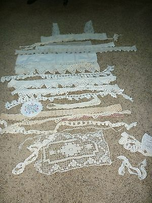 """Bag Of Antique Lace 1920""""s And Earlier"""