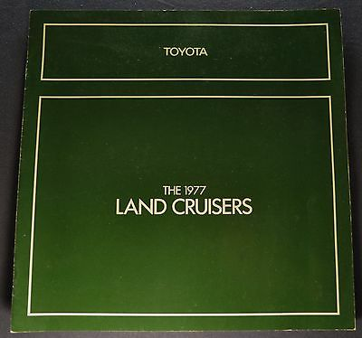 1977 Toyota Land Cruiser Catalog Brochure 4x4 Wagon Excellent Original 77