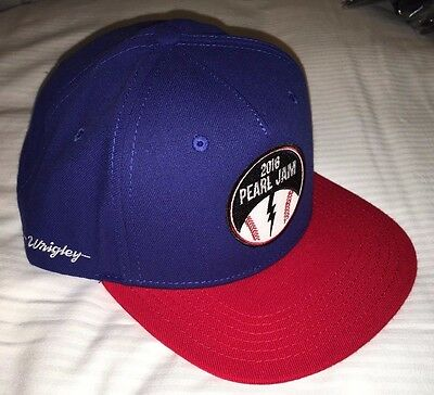 PEARL JAM - Chicago Wrigley Baseball style blue HAT - WOW 8/20 8/22 2016 cubs