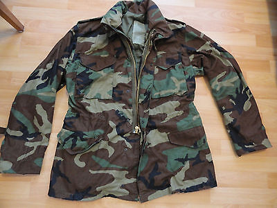 100% US ARMY M65 Small Short WOODLAND COLD WEATHER FIELD JACKET COAT BDU USAF