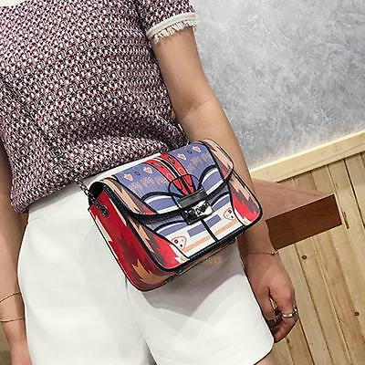 Women PU Leather Satchel Handbag Shoulder Tote Messenger Crossbody Bag Chain Bag