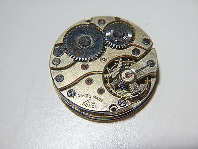 SS & Co Watch Movement Vintage 1920 Porcelain Dial And Hands