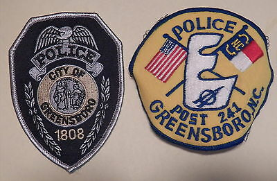 Greensboro (NC) Police Department Patches - Set of 2