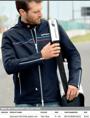 Mens BMW M Motorsport Softshell Jacket 2XL XXL NEW Soft Shell