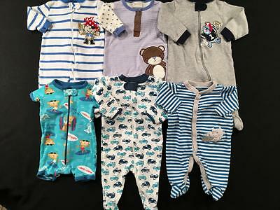 Baby Boys 0/3 Months Carters Gymboree Sleepers Pajama Clothes Lot B112 Free Ship