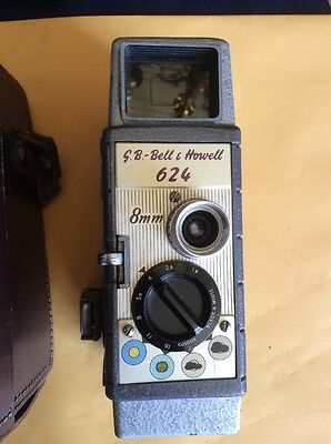 Bell & Howell 624 Standard 8 Vintage Retro Movie Camera And Case